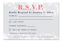 RSVP Cards / A board full of RSVP cards designed by Dittobug Wedding Invitations. Find us at www.dittobug.com