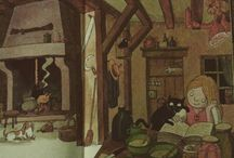 Domythic Bliss : children's books / Some illustrations of books, which, as a kid, made you want your own cosy house !