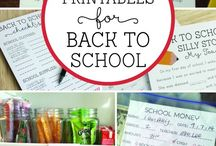 Back to School / Back to school ideas and recipes to get the kiddos (and mom) excited.