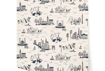 Hygge and West Wallpaper / Hygge and West Wallpaper @ WallpaperBlvd.com - featuring Rifle Paper, Julia Rothman, Justina Blakeney, Oh Joy !,  Landry Studio, Emily Isabella, Pattern People, Karla Pruitt, Terrence Payne, Askov Finlayson and Eden & Eden.