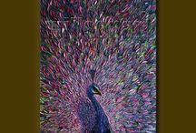 живопись птицы