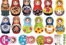russie / Inspiration Chambre bébé thème : poupée russe
