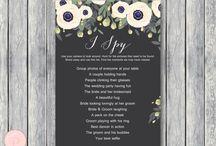 Wedding Games Printable / Wedding Games Printable, Free Wedding Games, Wedding Scavenger Games, I Spy