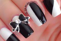 nails art noir et blanc