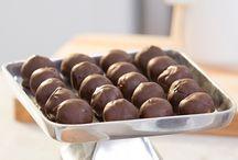 Boules au beurre d'arachides et chocolat