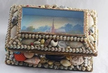 """Sailors Valentine Vintage Shell Art / I love the vintage shell art, particularly the pieces that are referred to as """"sailor valentines""""  I have a couple of my own and deeply treasure them"""
