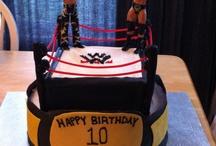 Childrens Wrestling Birthday cakes