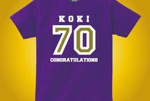 古希 祝い プレゼント 紫色 古希70歳 お祝い 古希 お誕生日 Tシャツ おもしろtシャツ