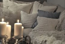 Creatively Cosy Home / Creating a cosy home with warm colours, rich textures and soft fabrics.