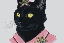 cat art 2 / by Cynthia Wilson