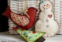 Ho Ho Ho Ornaments / Homemade Christmas / by Lynn Morris