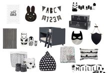 monochrome. / black & white ┃kids ┃ dècor & interiors