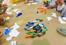 Taller con Playcolor en Eureka! Zientzia Museoa / En Eureka! Zientzia Museoa ya han empezado las colonias de verano. ¡Y se lo han pasado muy bien pintando con #Playcolor One y Metallic!