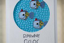 Kids birthday cards / Cute/kids birthday cards