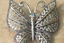 Beautiful butterfly jewellery / Beautiful butterfly jewellery with butterflies in brooch, necklaces, bracelets and earrings. Go a little butterfly crazy!