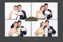 Nicole & Brian #ForeverFarrington / Wedding Photo Booth, Gif photo booth, New York Photo Booth, white backdrop, charcoal and gold, wedding, love, photo booth props