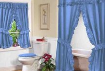 """Double Swag Shower Curtains and matching Window Curtains / Our Double Swag Shower Curtains feature a stylish diamond pattern to give your bath an elegant makeover. Complete package includes matching tiebacks, tieback hooks and a frosty clear 100% vinyl shower liner. Shower curtain is 70 inches x 72 inches, 100% polyester, machine washable. Matching 70"""" x 45"""" double swag window curtain also available (sold separately)."""