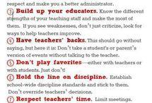 To be a good principal...