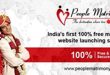 People Matrimony / INDIA'S FIRST 100 % FREE & SECURE MATRIMONIAL WEBSITE