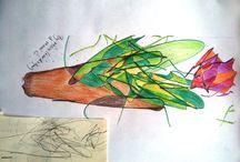 Mine and Mara's / drawings by Mara and mami