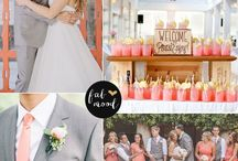 Coral & Grey / Colours for wedding