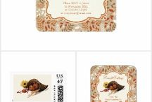 Thanksgiving / thanksgiving party invitations and decor