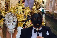 D & D - 10th September 2015 / Wedding Day from Venice. Theme: Venice's masks. Colors: dark grey. Venue: private Villa