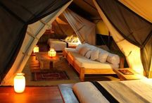 Glamping / Don't care what anyone says; I prefer glamping to camping thank you very much.