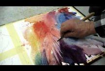 Demo akvarell, dyr