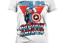 Marvel - koszulki damskie / Oryginalne koszulki damskie z bohaterami Marvel Comics. Iron Man, Thor, Hulk, Spiderman.