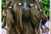 cheveux avec boucles élastique