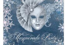 Party idea: Winter Wonderland / Winter wonderland magic masquerade / New Years masquerade ball