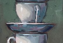 Tea cup painting