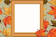 Otoño Marcos, Cenefas y Bordes / Marcos a color de otoño para composiciones. Educación.  Arte. Escritura. Mensajes