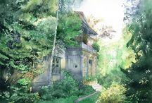 Grzegorz Wróbel akwarele/watercolors