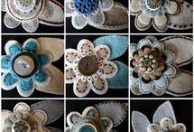 fabric flowers / by Mary Fluaitt