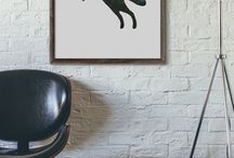Graphic Design / Graphic design home decor wall prints and posters.