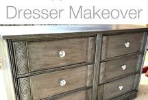 Refinish Furniture / Here are some ideas for giving your Thrift Furniture new life with a personal touch!