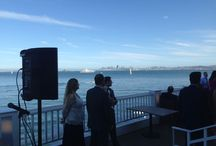 BAY AREA WEDDING  DJ / Ondine Restaurant Events Sausalito DJ Wedding March 2015  What an Amazing night and Spectacular Sunset over the San Francisco Bay. (As Journey once Said (When the Lights go down in the City, and the Sunshines on the Bay)