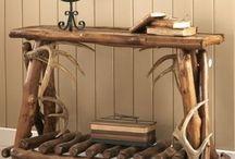 Deer antler furniture