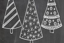 Karácsonyi tablafestes