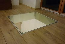 Skleněné zábradlí a pochozí sklo / Celoskleněné zábradlí v kombinaci s pochozím sklem dokonale prosvětlí váš domov.