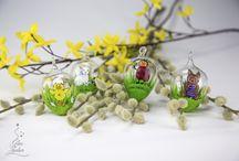 Auch im Frühjahr... / ... kann man dekorieren ! Kreationen rund um Weihnachten
