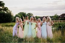Bridesmaids / No true bride is without her bridesmaids by her side.