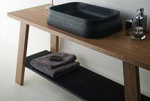 Concrete basin inspiration / bathroom inspiration, handmade concrete basins and natural colours