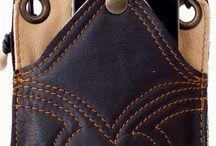 Leer om te gebruiken. /  Handgemaakte lederwaren van echte leren huiden en vachten. Leverbaar vanuit voorraad en in opdracht.  www.joycevanheek.nl