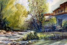 Tutor's paintings / Paintings of The Watermill and elsewhere by by our inspiring tutors