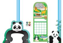 Panda Theme / Check out our panda themed notepads, stickers, charts and more!