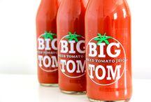 """Big Tom / In England wurde der """"Big Tom"""" Tomatensaft mit dem Royal Warrant ausgezeichnet, welcher eine Anerkennung für Personen oder Unternehmen ist, die das britischen Könighauses beliefern."""