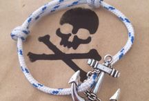 Captain Moo's Pirate Bracelets / Ahoy! Home crafted nautical jewellery